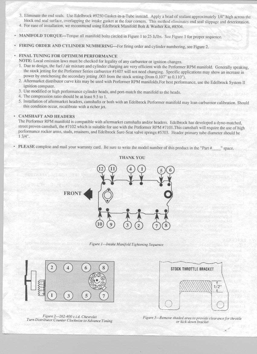 Sbc Assembly Spec Wiring Diagram 1985 Chevy 305 Block