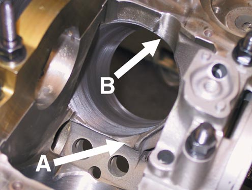 Block clearancing for the small block Chevy stroker